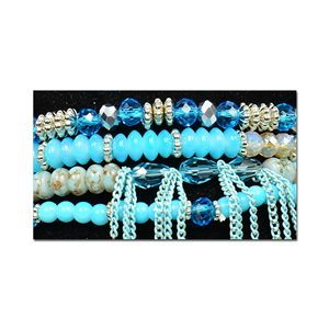 Bracelet CYBELE Cuff 4 Ranks Collection Bead Charms and Jewelry on Elastic Wire New Collection 75999