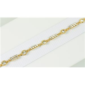 Bracelet métal Gold Color serti de Strass L19 cm The Best Collection Chic 76016