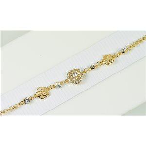 Bracelet métal Gold Color serti de Strass L19 cm The Best Collection Chic 76022