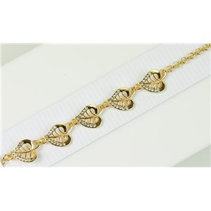 Bracelet métal Gold Color serti de Strass L19 cm The Best Collection Chic 76024