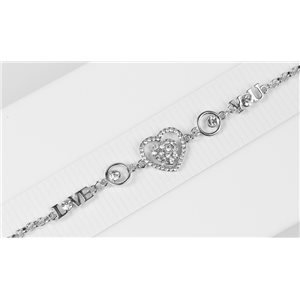 Bracelet métal Silver Color serti de Strass L19 cm The Best Collection Chic 76041