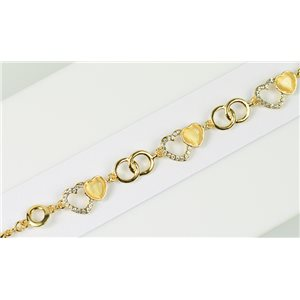Bracelet métal Gold Color serti de Strass L19 cm The Best Collection Chic 76044