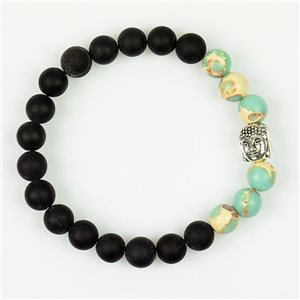 Tibetan Natural Stone Bracelet Buddha Collection 76109