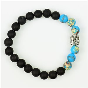 Tibetan Bracelet Natural Stone Buddha Collection 76111