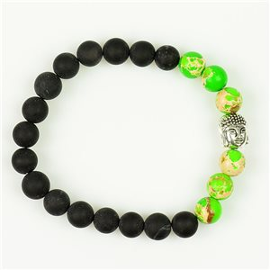 Bracelet Tibétain en Pierre Naturelle Collection Buddha 76114