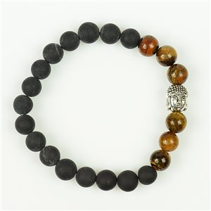 Tibetan Bracelet in Natural Stone Buddha Collection 76115