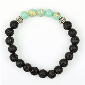 Tibetan Natural Stone Bracelet Collection 5 Upper Chakras 76117