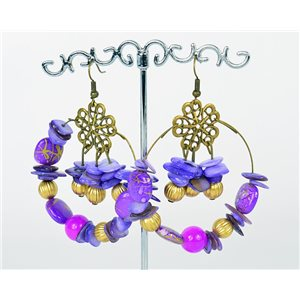1p Earrings Ears Nacre and Shells Mode Fashion Summer 76164