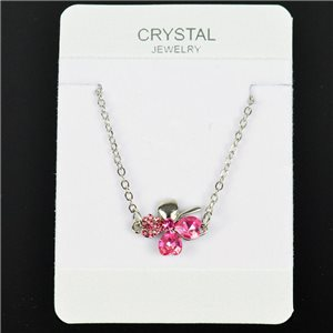 Bracelet 4 Crystal hearts on adjustable chain L21cm 76178