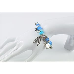 Bracelet CYBELE Jewelry Bead Charms on Elastic Wire New Collection 76134