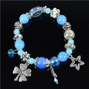 Bracelet CYBELE Jewelry Bead Charms on Elastic Wire New Collection 76136