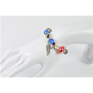 Bracelet CYBELE Bijoux Bead Charms sur fil élastic New Collection 76145