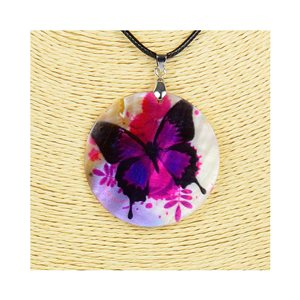 Pendant necklace 5 cm Natural Mother of Pearl Fashion Design L48cm New Collection 76183