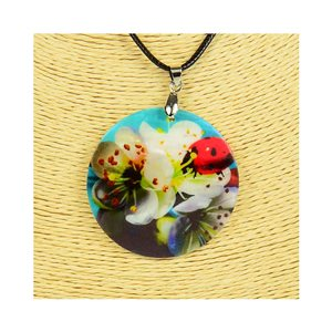 Pendant necklace 5 cm Natural Mother of Pearl Fashion Design L48cm New Collection 76210