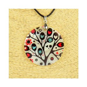 Pendant necklace 5 cm Natural Mother of Pearl Fashion Design L48cm New Collection 76211