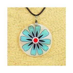 Pendant necklace 5 cm Natural Mother of Pearl Fashion Design L48cm New Collection 76213