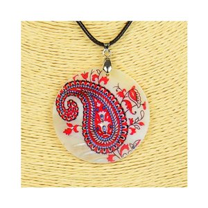 Pendant necklace 5 cm Natural Mother of Pearl Fashion Design L48cm New Collection 76222