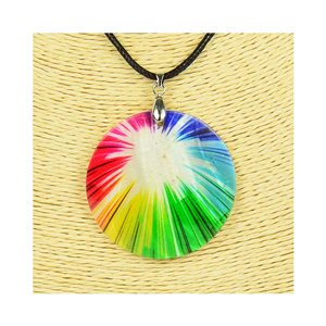 Pendant necklace 5 cm Natural Mother of Pearl Fashion Design L48cm New Collection 76250