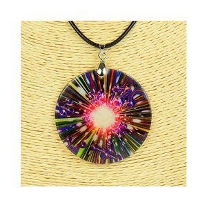 Pendant necklace 5 cm Natural Mother of Pearl Fashion Design L48cm New Collection 76253