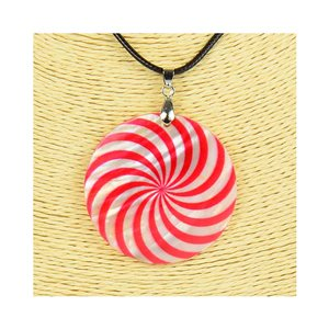 Pendant necklace 5 cm Natural Mother of Pearl Fashion Design L48cm New Collection 76254