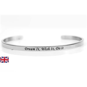 stainless steel message bracelet 76419 Message: Dream It, Wish It, Do It