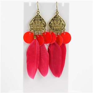 1p Earrings Hanging hook 10cm Original Collection Feathers 2019 76486