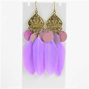 1p Boucles Oreilles Pendantes à crochet 10cm Original Collection Plumes 2019 76488