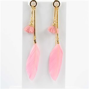 1p Boucles Oreilles Pendantes à clou 11cm Original Collection Plumes 2019 76474