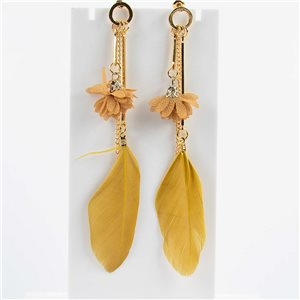 1p Boucles Oreilles Pendantes à clou 11cm Original Collection Plumes 2019 76475