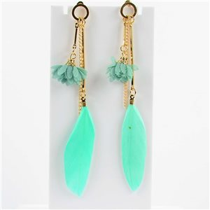1p Boucles Oreilles Pendantes à clou 11cm Original Collection Plumes 2019 76476