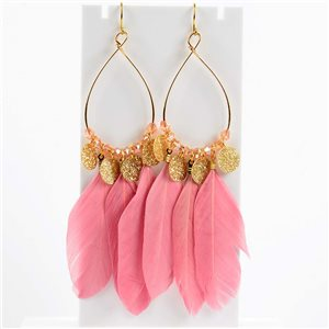 1p Boucles Oreilles Pendantes à crochet 11cm Original Collection Plumes 2019 76498