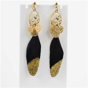 1p Earring Earrings with nail 9cm Original Collection Feathers 2019 76505
