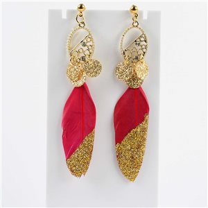 1p Drop Earrings 9cm Original Feather Collection 2019 76507