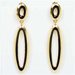 1p Earrings Nail 55mm metal color GOLD New Graphika Trend 76528