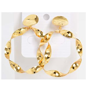 1p Earrings Nail 60mm metal color GOLD New Graphika Trend 76536
