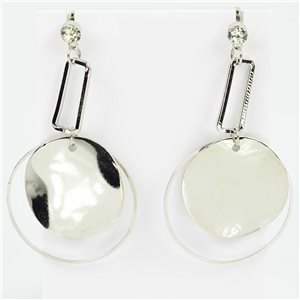 1p Earrings Nail 60mm metal color SILVER New Graphika Trend 76555