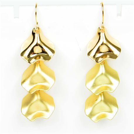 1p Earrings Hook 50mm metal color GOLD New Graphika Trend 76552