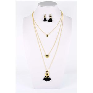 Adornment Pompom Collection 2019 Necklace Multirang chain necklace gold L48cm 76585