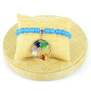 Blue Aventurine Stone Happiness Bracelet Collection Bijou Arbre de Vie Collection 76611