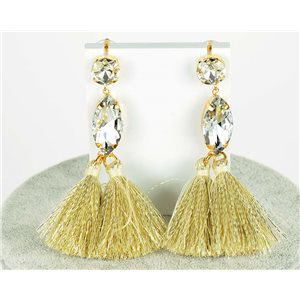 1p Boucles Oreilles Pendantes à clou 9cm New Collection Pompon 2019 76684