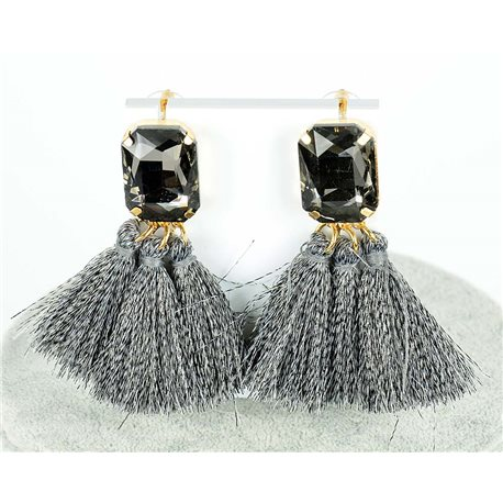 1p Boucles Oreilles Pendantes à clou 8cm New Collection Pompon 2019 76689