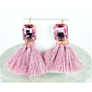 1p Boucles Oreilles Pendantes à clou 8cm New Collection Pompon 2019 76690
