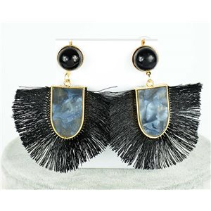 1p Boucles Oreilles Pendantes à clou 7.5cm New Collection Pompon 2019 76699
