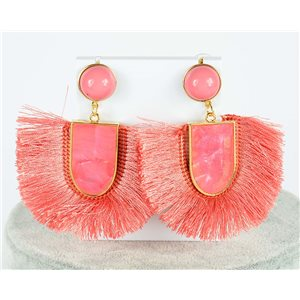 1p Drop Earrings with nail 7.5cm New Collection Pompon 2019 76702