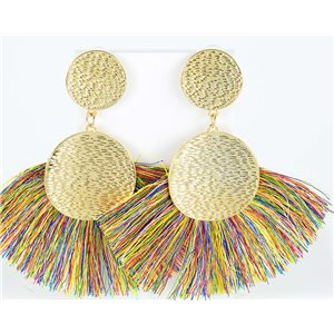 1p Drop Earrings with nail 10cm New Collection Pompon 2019 76705