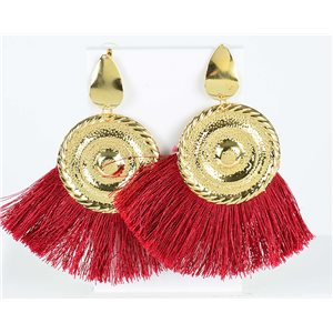 1p Boucles Oreilles Pendantes à clou 10cm New Collection Pompon 2019 76708