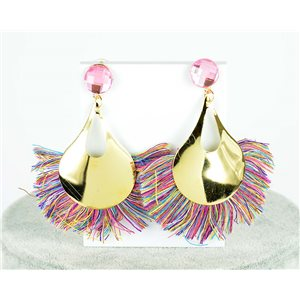 1p Boucles Oreilles Pendantes à clou 8cm New Collection Pompon 2019 76697