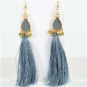 1p Earrings with hook 13cm New Collection Pompon 2019 76725