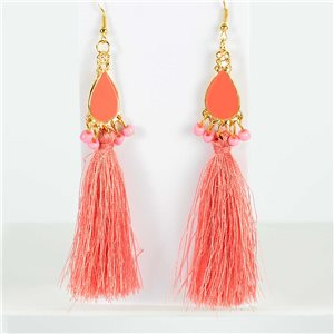 1p Boucles Oreilles Pendantes à crochet 13cm New Collection Pompon 2019 76726