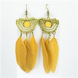 1p Earrings Hanging hook 10cm Original Collection Feathers 2019 76730